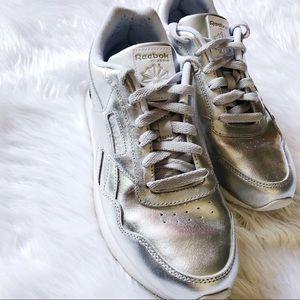 Silver Reebok Classic Sneakers Sz 9
